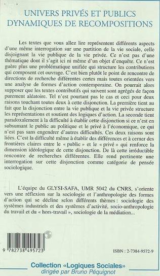 4eme UNIVERS PRIVé ET PUBLIC DYNAMIQUES DE RECOMPOSITIONS