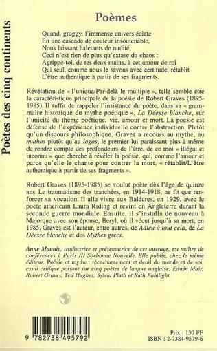 Poèmes Robert Graves Livre Ebook Epub