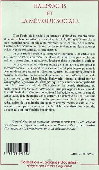 4eme HALBWACHS ET LA MEMOIRE SOCIALE