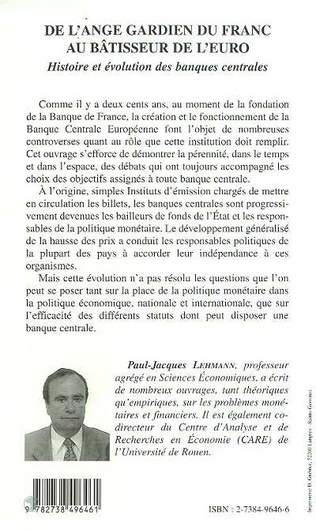 4eme DE L'ANGE GARDIEN DU FRANC AU BÂTISSEUR DE L'EURO