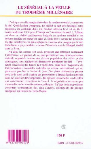 4eme LE SENEGAL A LA VEILLE DU TROISIEME MILLENAIRE