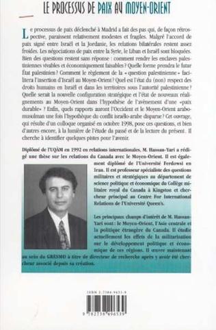 4eme LE PROCESSUS DE PAIX AU MOYEN-ORIENT