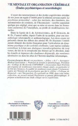 4eme VIE MENTALE ET ORGANISATION CÉRÉBRALE
