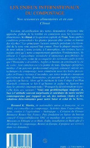 4eme LES ENJEUX INTERNATIONAUX DU COMPOSTAGE