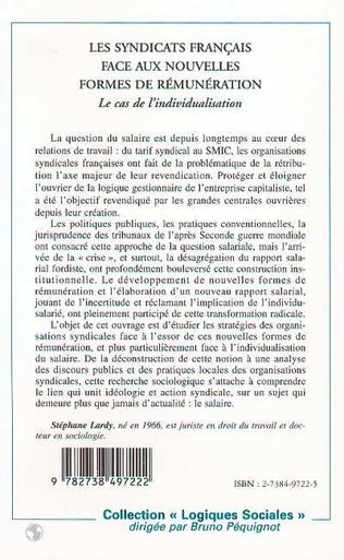 4eme LES SYNDICATS FRANÇAIS FACE AUX NOUVELLES FORMES DE RÉMUNÉRATION