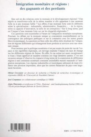 4eme INTÉGRATION MONÉTAIRE ET RÉGIONS : DES GAGNANTS ET DES PERDANTS