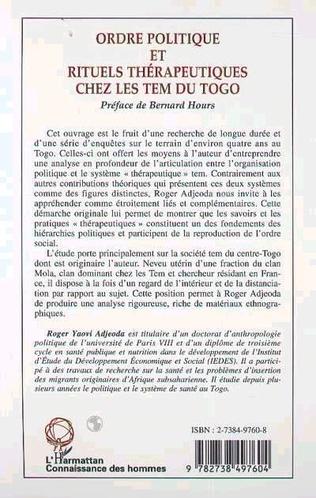 4eme ORDRE POLITIQUE ET RITUELS THÉRAPEUTIQUES CHEZ LES TEM DU TOGO