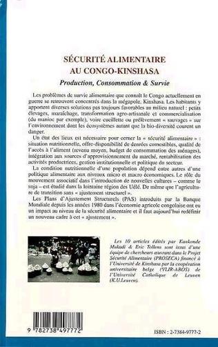 4eme SÉCURITÉ ALIMENTAIRE AU CONGO-KINSHASA