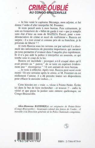 4eme CRIME OUBLIÉ AU CONGO-BRAZZAVILLE