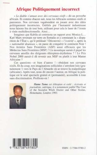 4eme AFRIQUE POLITIQUEMENT INCORRECT