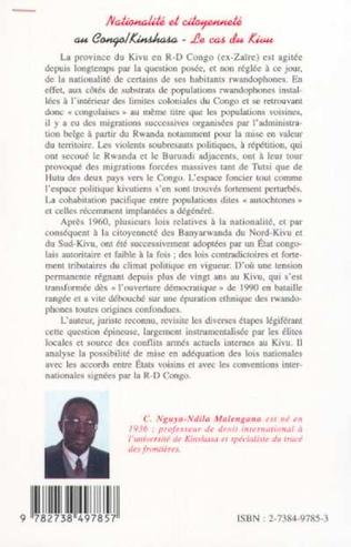 4eme NATIONALITÉ ET CITOYENNETÉ AU CONGO/KINSHASA