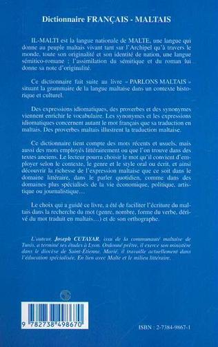 4eme Dictionnaire français-maltais