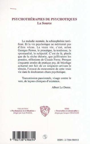 4eme PSYCHOTHéRAPIES DE PSYCHOTIQUES