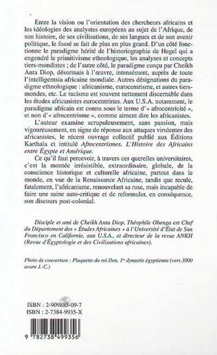 4eme LE SENS DE LA LUTTE CONTRE L'AFRICANISME EUROCENTRISTE