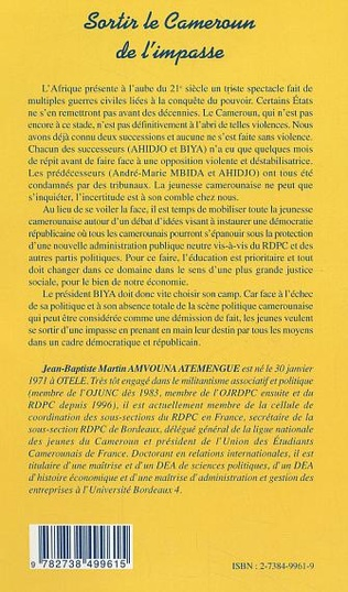 4eme SORTIR LE CAMEROUN DE L'IMPASSE