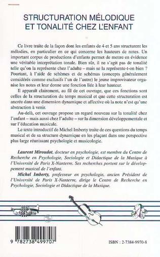 4eme STRUCTURATION MÉLODIQUE ET TONALITÉ CHEZ L'ENFANT