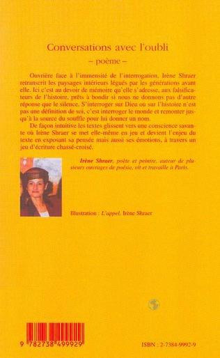 4eme CONVERSATIONS AVEC L'OUBLI