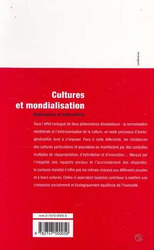 4eme CULTURES ET MONDIALISATION