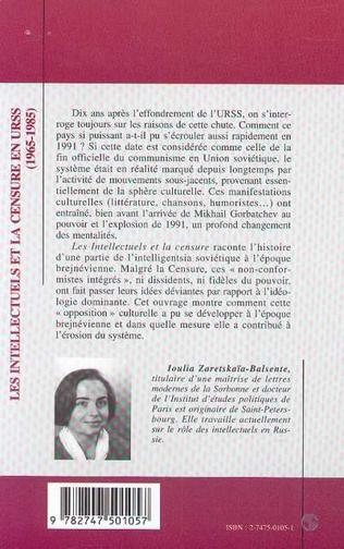 4eme LES INTELLECTUELS ET LA CENSURE EN URSS (1965-1985)