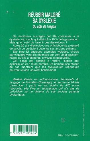 4eme RÉUSSIR MALGRÉ SA DYSLEXIE