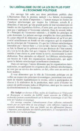 4eme DU LIBÉRALISME OU DE LA LOI DU PLUS FORT À L'ÉCONOMIE POLITIQUE