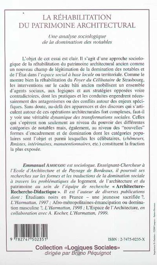 4eme RÉHABILITATION DU PATRIMOINE ARCHITECTURAL