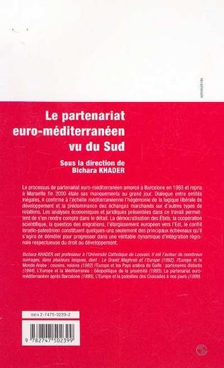 4eme LE PARTENARIAT EURO-MÉDITERRANÉEN VU DU SUD