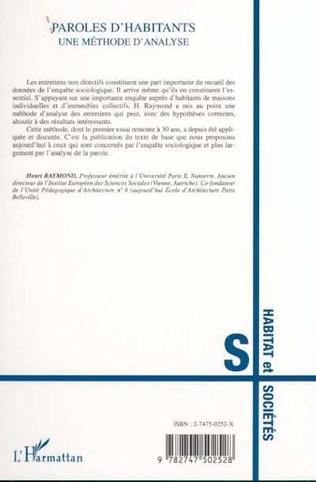 4eme PAROLES D'HABITANTS