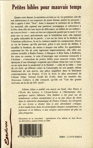 4eme PETITES BIBLES POUR MAUVAIS TEMPS