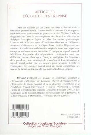 4eme ARTICULER L'ÉCOLE ET L'ENTREPRISE