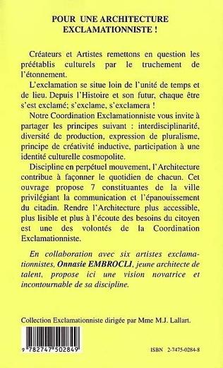 4eme POUR UNE ARCHITECTURE EXCLAMATIONNISTE !