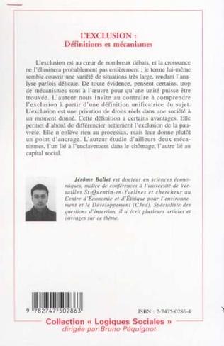 4eme L'EXCLUSION : Définitions et mécanismes