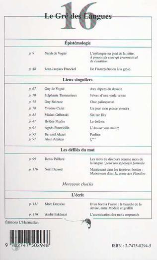 4eme Le gré des langues n°16
