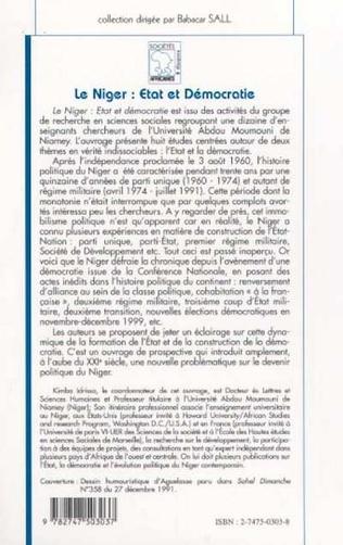 4eme Société nigérienne et démocratie