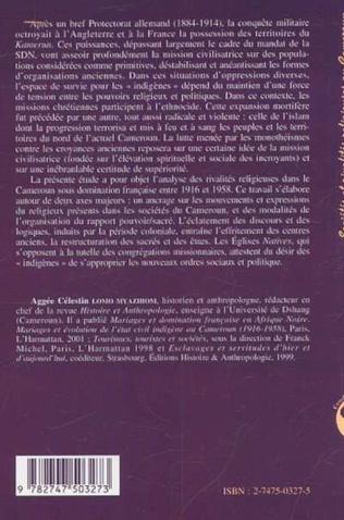 4eme SOCIÉTÉS ET RIVALITÉS RELIGIEUSES AU CAMEROUN SOUS DOMINATION FRANÇAISE (1916-1958)