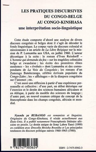 4eme LES PRATIQUES DISCURSIVES DU CONGO-BELGE AU CONGO-KINSHASA : une interprétation sociolinguistique