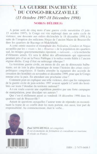 4eme LA GUERRE INACHEVÉE DU CONGO-BRAZZAVILLE (15 OCTOBRE 1997-18