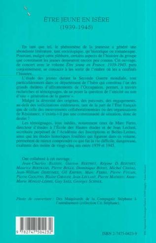 4eme ÊTRE JEUNE EN ISÈRE (1939-1945)
