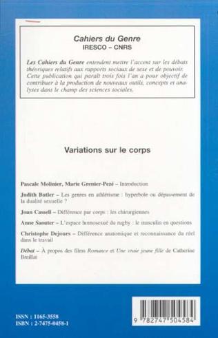 4eme VARIATIONS SUR LE CORPS