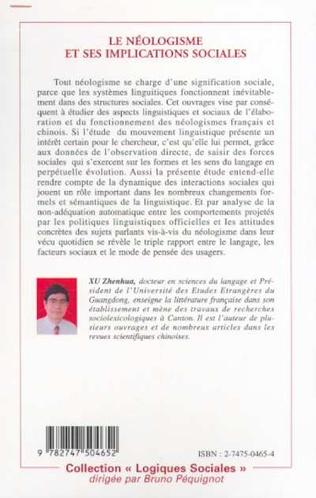 4eme LE NÉOLOGISME ET SES IMPLICATIONS SOCIALES