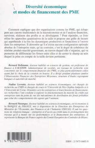 4eme DIVERSITÉ ÉCONOMIQUE ET MODES DE FINANCEMENT DES PME