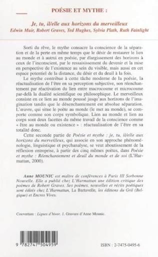 4eme Poésie et mythe : je, tu, il/elle aux horizons du merveillleux