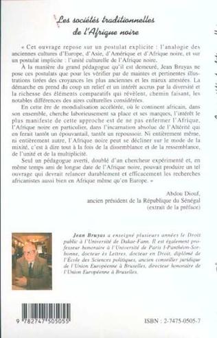 4eme LES SOCIÉTÉS TRADITIONNELLES DE L'AFRIQUE NOIRE