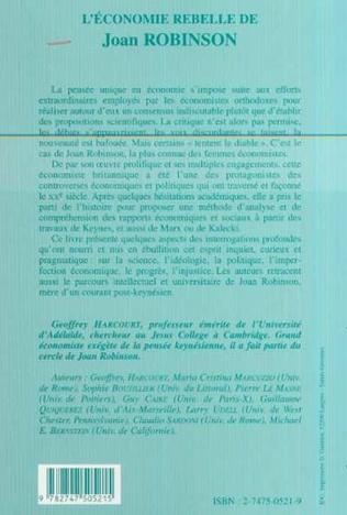 4eme L'ÉCONOMIE REBELLE DE JOAN ROBINSON