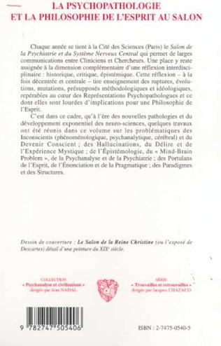 4eme LA PSYCHOPATHOLOGIE ET LA PHILOSOPHIE DE L'ESPRIT AU SALON