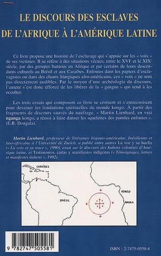 4eme LE DISCOURS DES ESCLAVES DE L'AFRIQUE À L'AMÉRIQUE LATINE