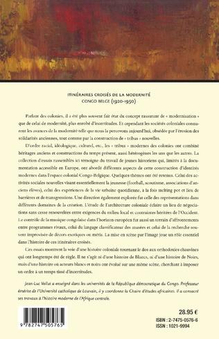 4eme ITINÉRAIRES CROISÉS DE LA MODERNITÉ CONGO BELGE (1920-1950)