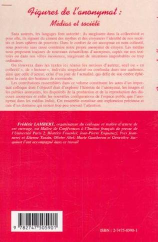 4eme FIGURES DE L'ANONYMAT : médias et société
