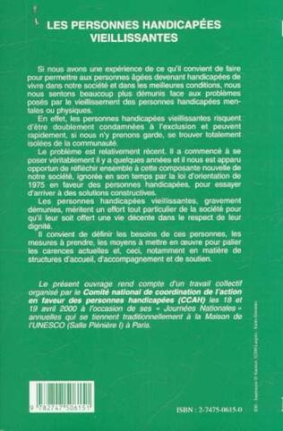 4eme LES PERSONNES HANDICAPÉES VIEILLISSANTES