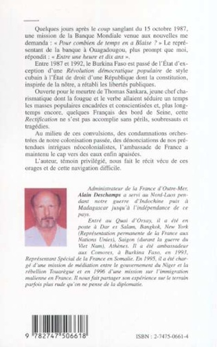 4eme BURKINA FASO (1987-1992)